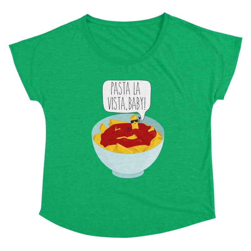 Pasta La Vista, Baby Women's Scoop Neck by CardyHarHar's Artist Shop