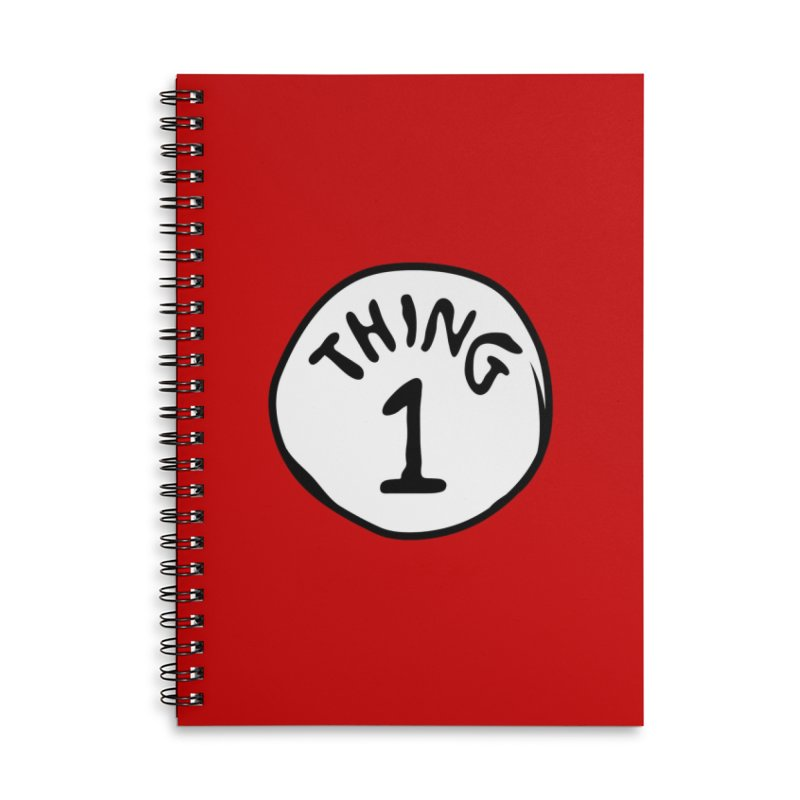 Thing 1 Accessories Notebook by CardyHarHar's Artist Shop