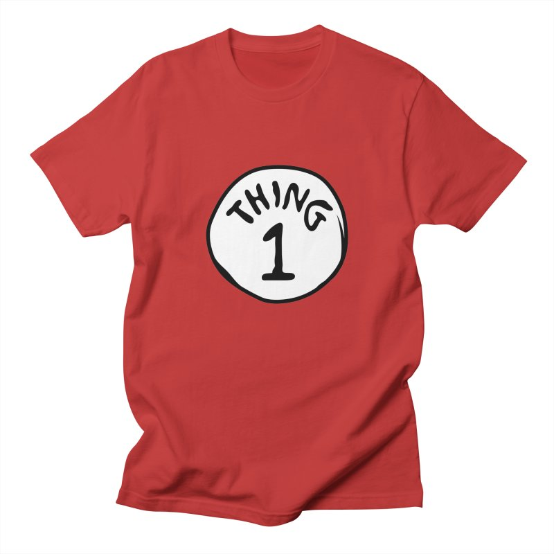 Thing 1 Men's Regular T-Shirt by CardyHarHar's Artist Shop