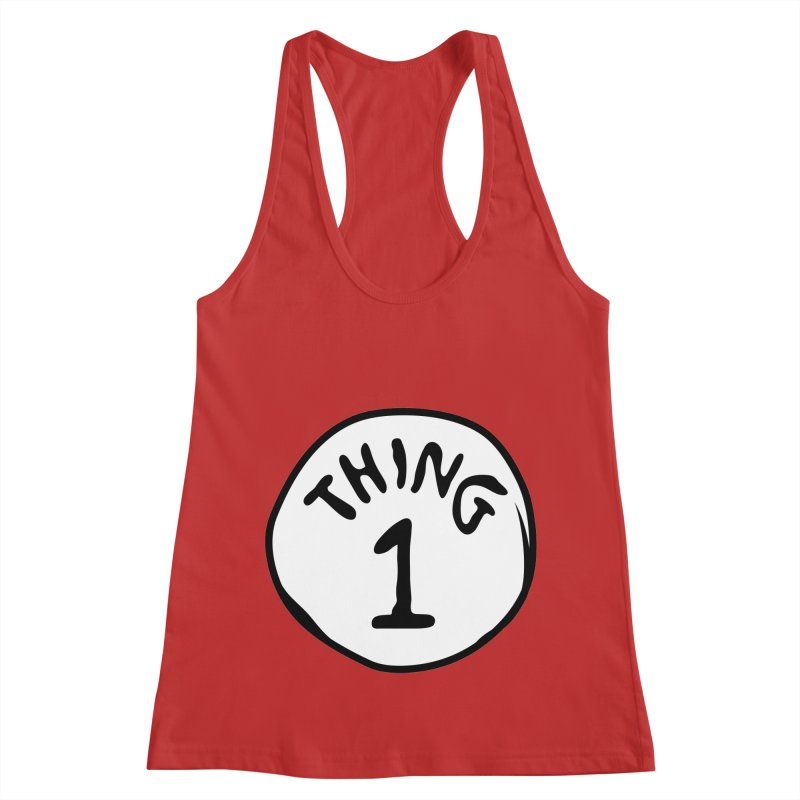 Thing 1 Women's Racerback Tank by CardyHarHar's Artist Shop
