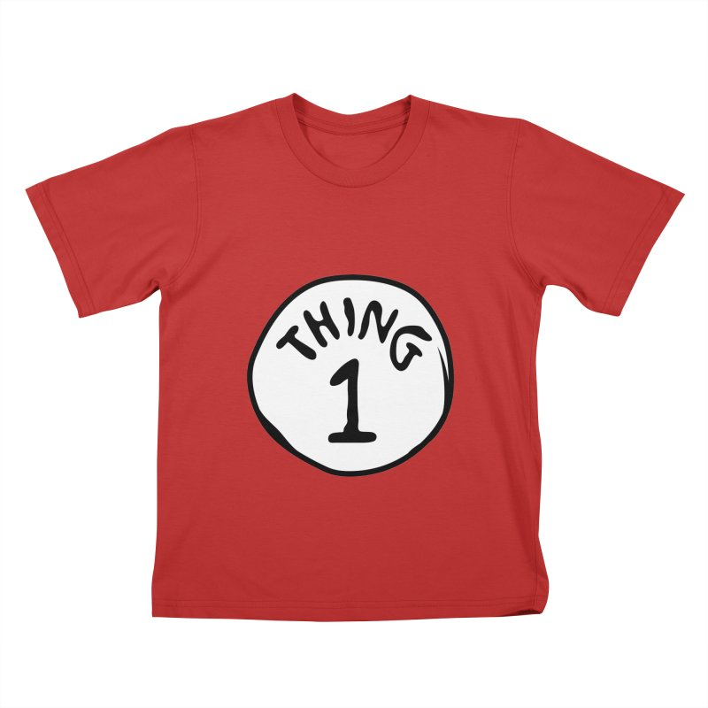 Thing 1 Kids T-Shirt by CardyHarHar's Artist Shop