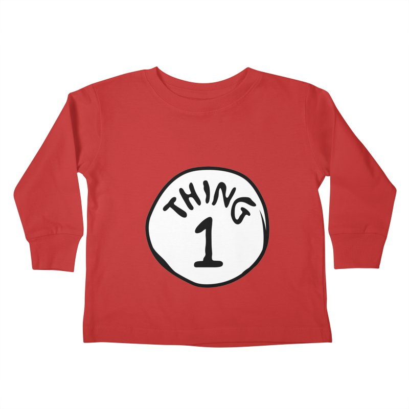 Thing 1 Kids Toddler Longsleeve T-Shirt by CardyHarHar's Artist Shop