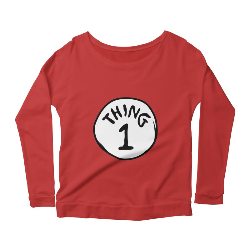 Thing 1 Women's Scoop Neck Longsleeve T-Shirt by CardyHarHar's Artist Shop