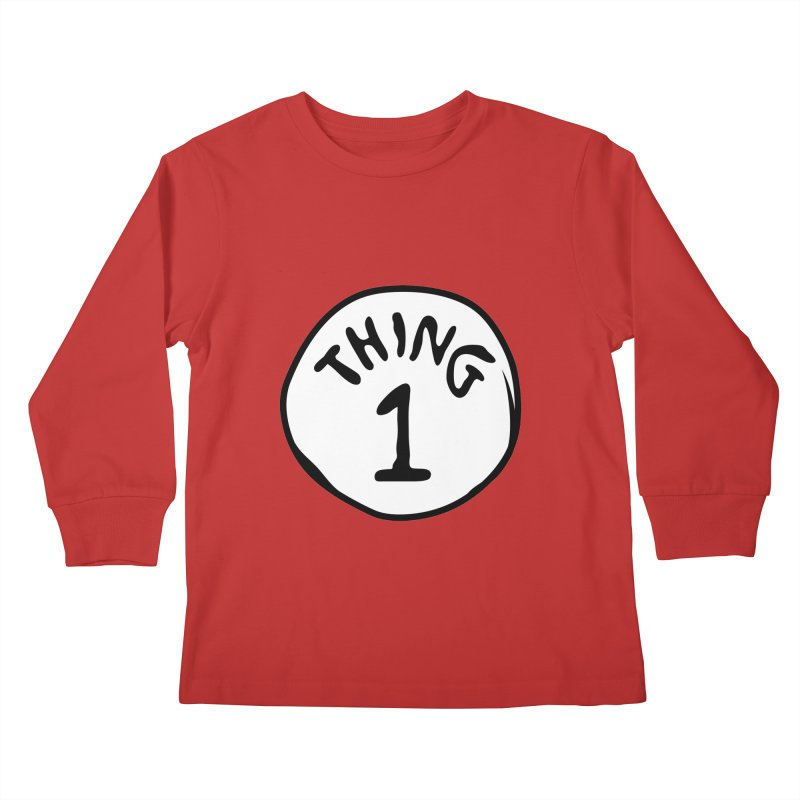 Thing 1 Kids Longsleeve T-Shirt by CardyHarHar's Artist Shop