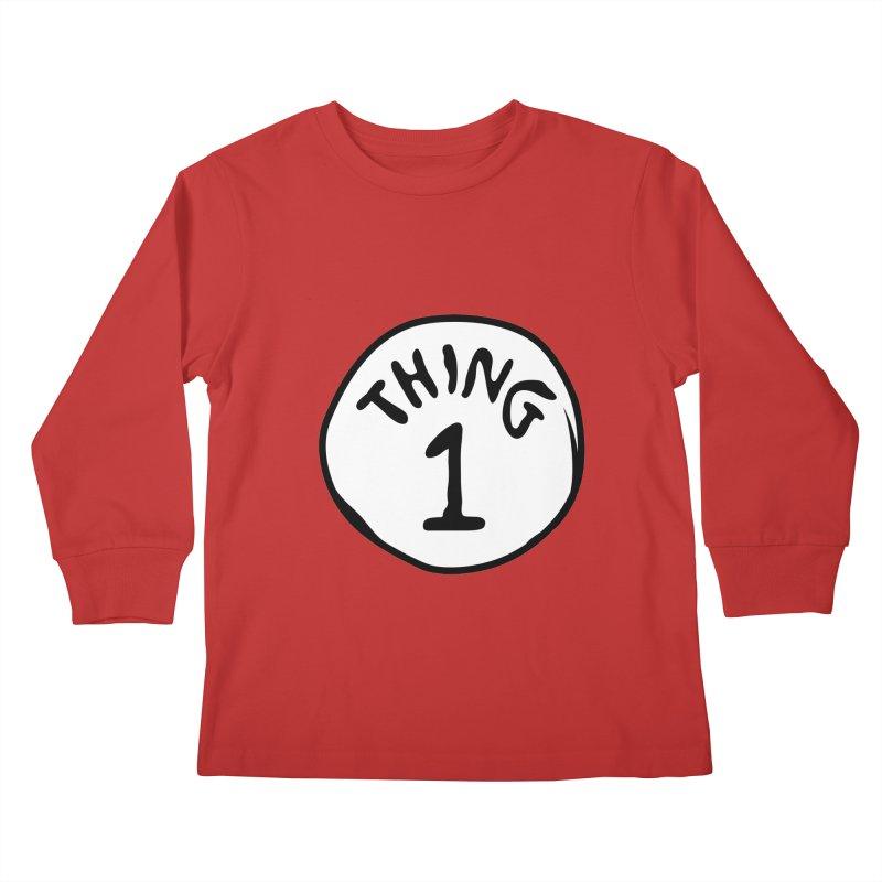 Thing 1 Kids Longsleeve T-Shirt by CardyHarHar's Artist Shop