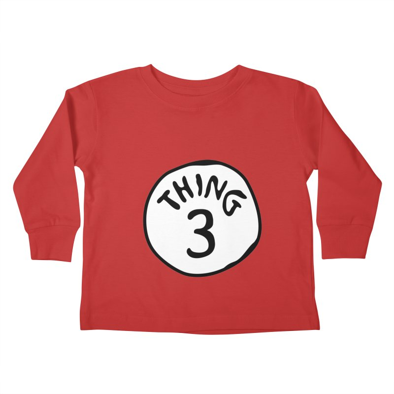 Thing 3 Kids Toddler Longsleeve T-Shirt by CardyHarHar's Artist Shop
