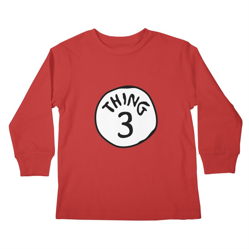 Thing 3 Kids Longsleeve T-Shirt by CardyHarHar's Artist Shop