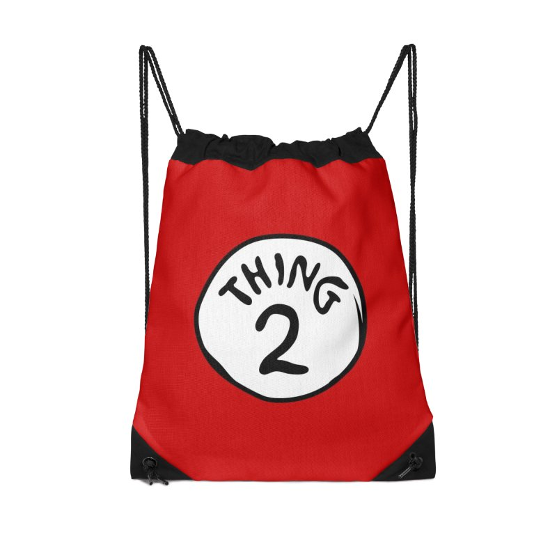 Thing 2 Accessories Drawstring Bag Bag by CardyHarHar's Artist Shop