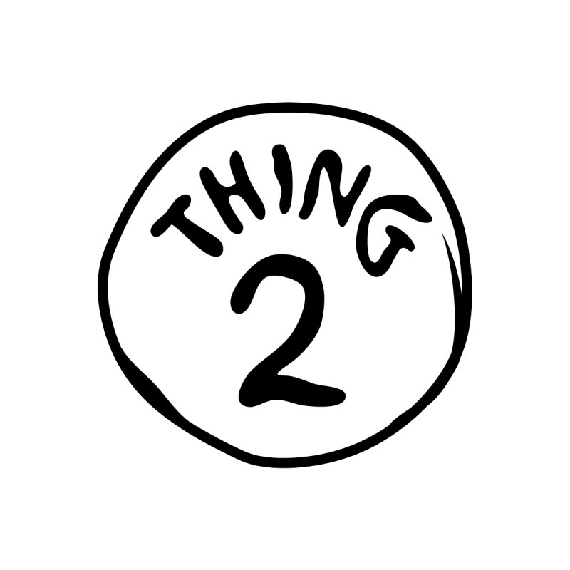 Thing 2 Accessories Sticker by CardyHarHar's Artist Shop