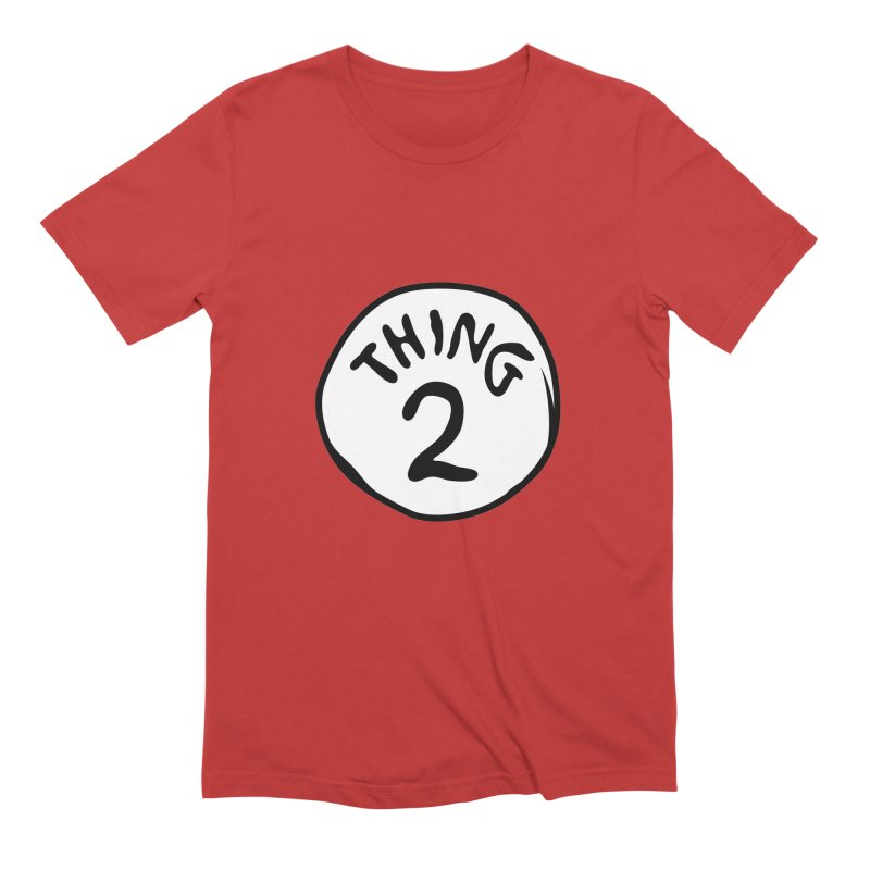 Thing 2 Men's Extra Soft T-Shirt by CardyHarHar's Artist Shop