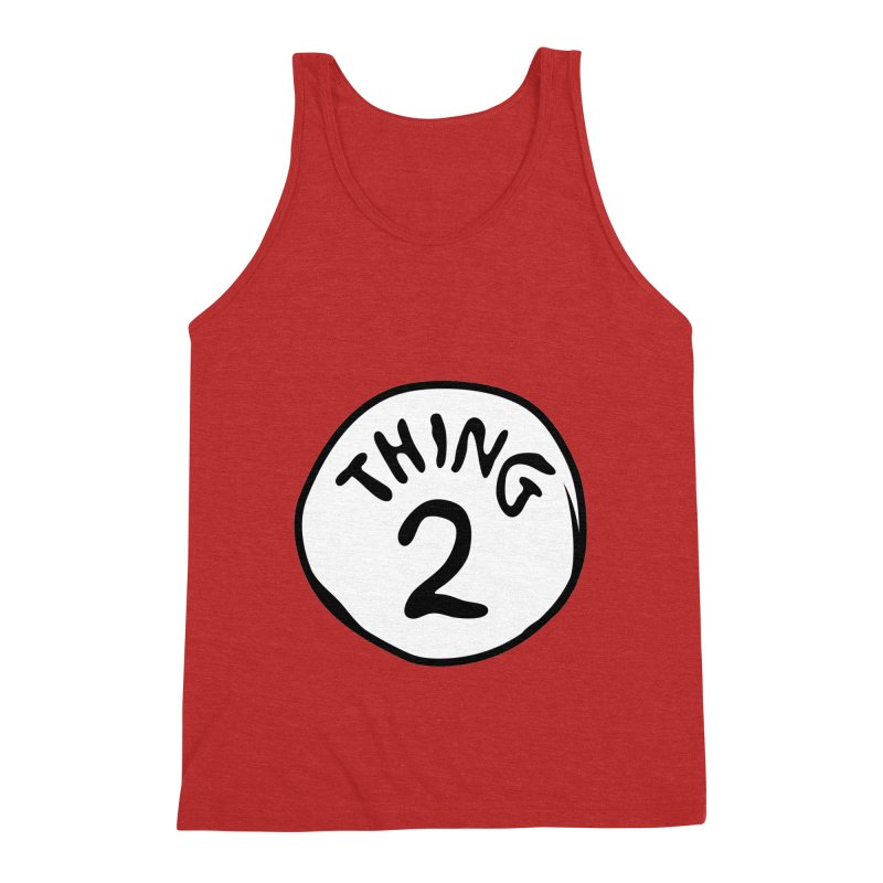 Thing 2 Men's Triblend Tank by CardyHarHar's Artist Shop