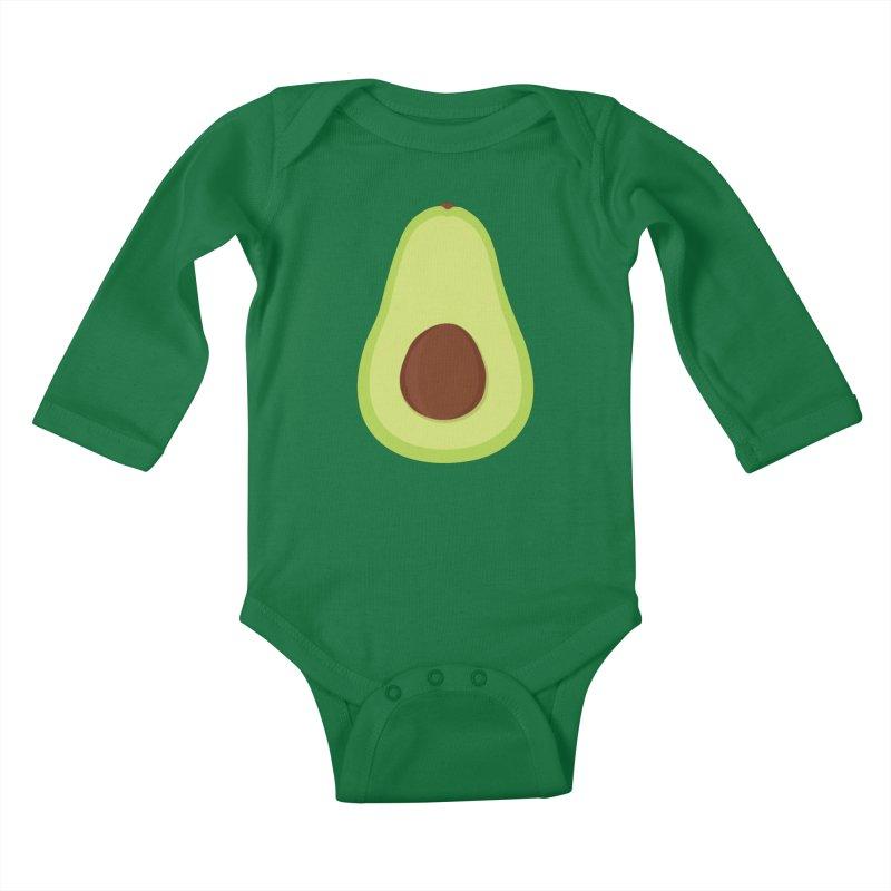 I'm an avocado! Kids Baby Longsleeve Bodysuit by CardyHarHar's Artist Shop