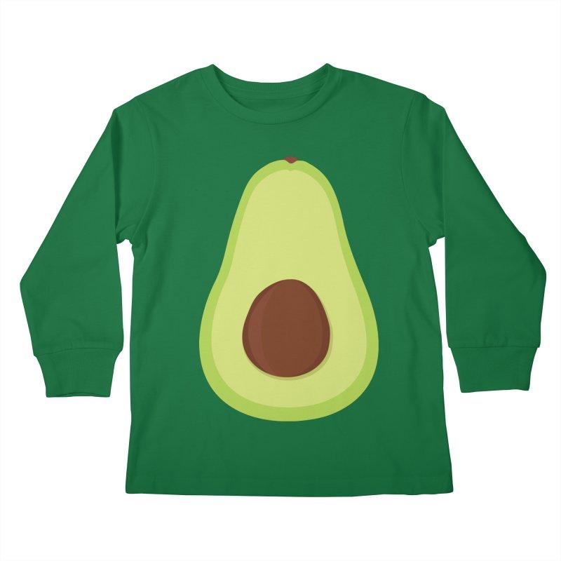 I'm an avocado! Kids Longsleeve T-Shirt by CardyHarHar's Artist Shop