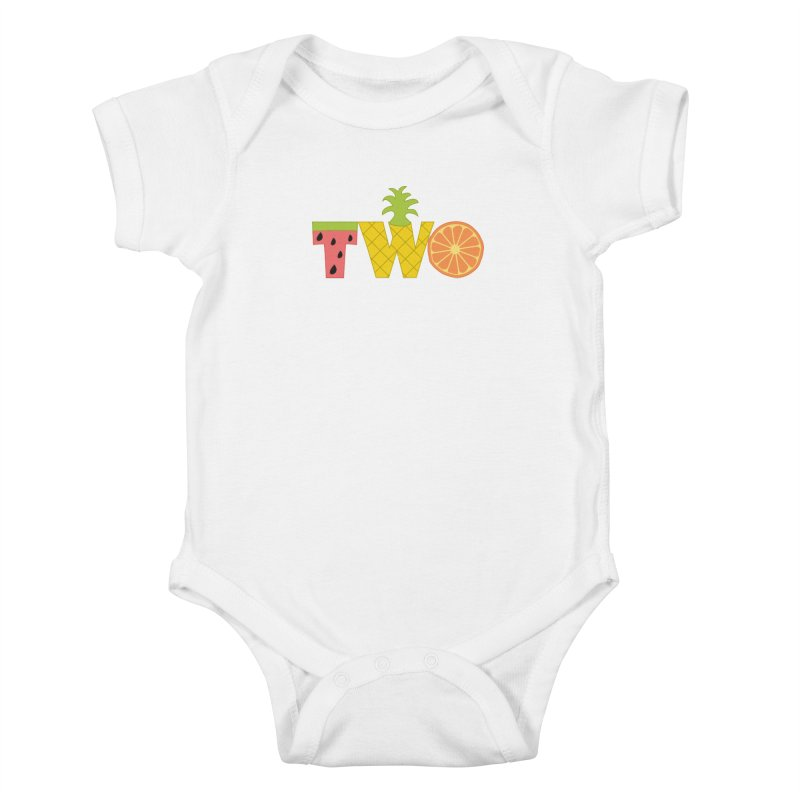 Two-tti Fruity Birthday Shirt Kids Baby Bodysuit by CardyHarHar's Artist Shop