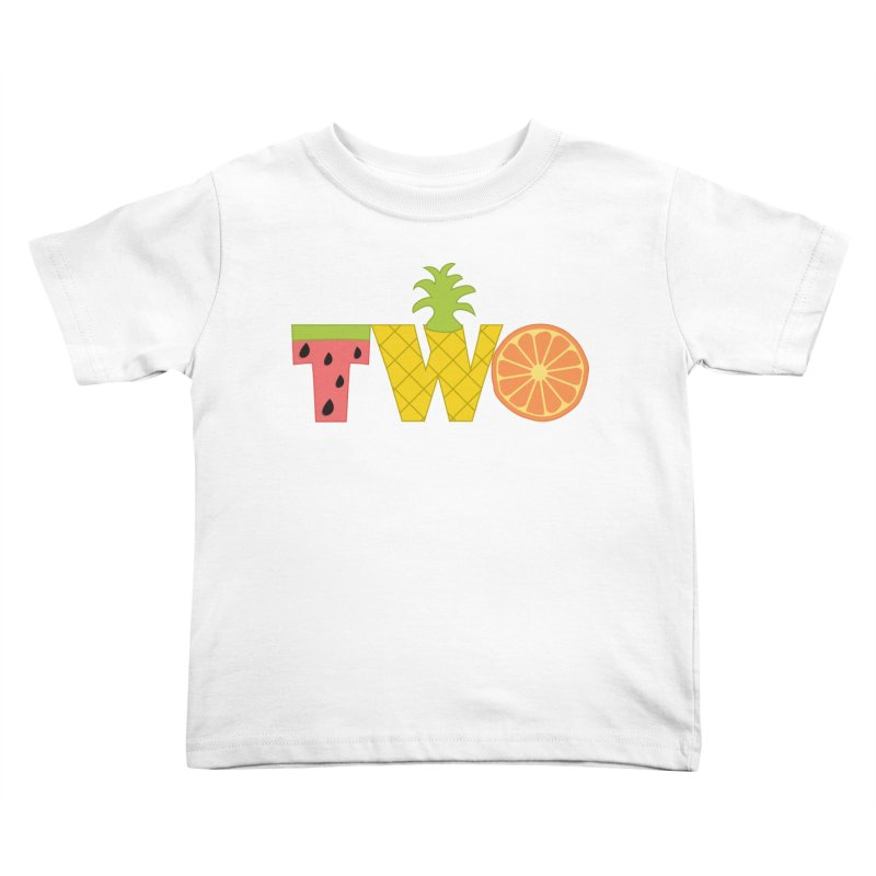 Two-tti Fruity Birthday Shirt Kids Toddler T-Shirt by CardyHarHar's Artist Shop