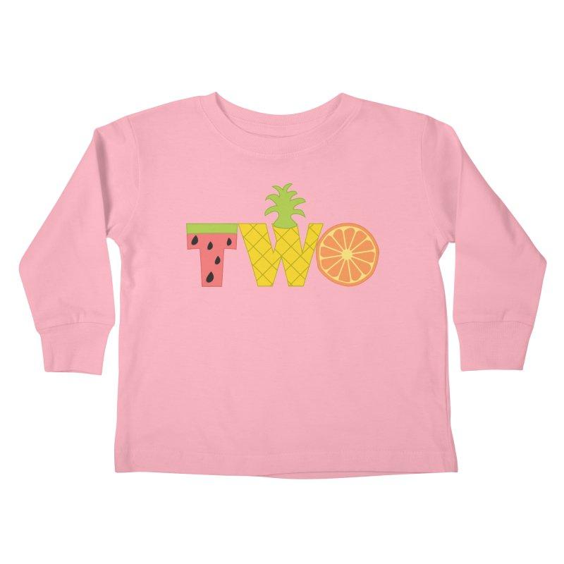 Two-tti Fruity Birthday Shirt Kids Toddler Longsleeve T-Shirt by CardyHarHar's Artist Shop