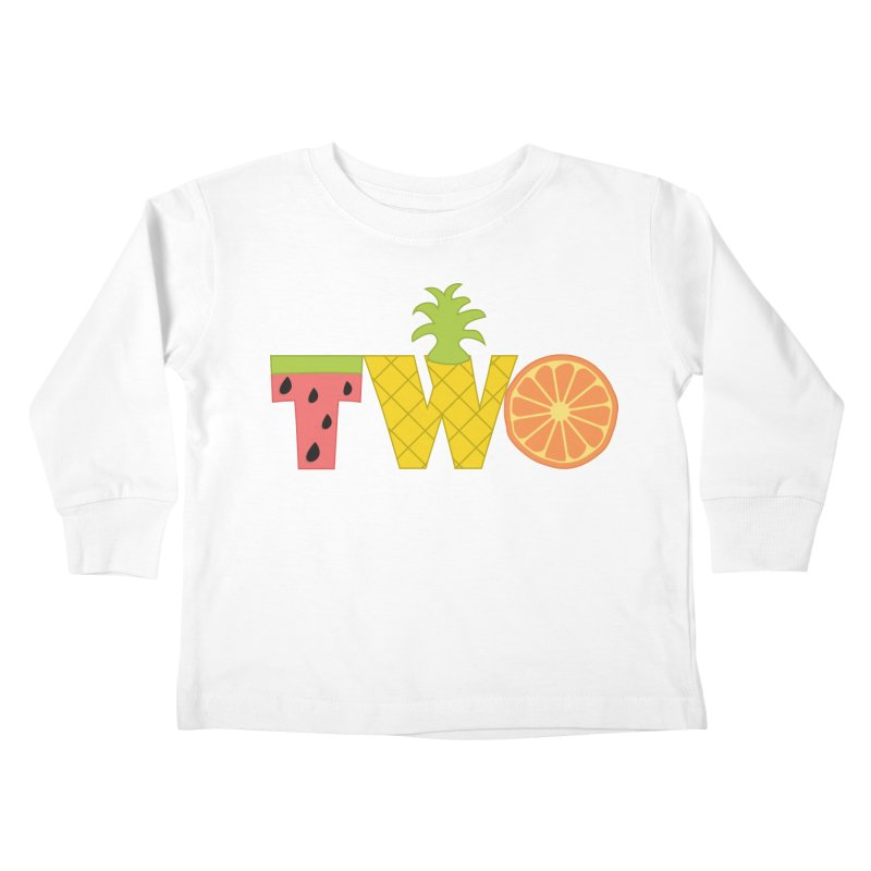Two-tti Fruity Birthday Shirt Kids Toddler Longsleeve T-Shirt by CardyHarHar's Artist Shop