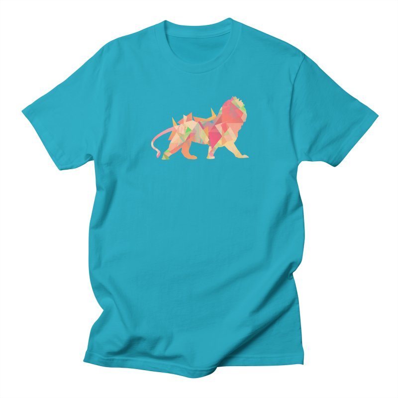 Poly Lion Men's T-Shirt by Carli's Artist Shop