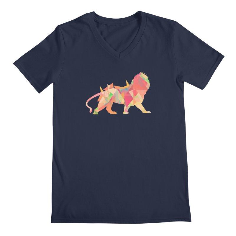 Poly Lion Men's V-Neck by Carli's Artist Shop