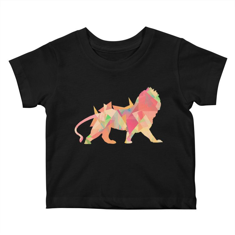 Poly Lion Kids Baby T-Shirt by Carli's Artist Shop