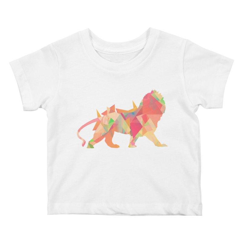 Poly Lion Kids Baby T-Shirt by Carli's Artist Shop