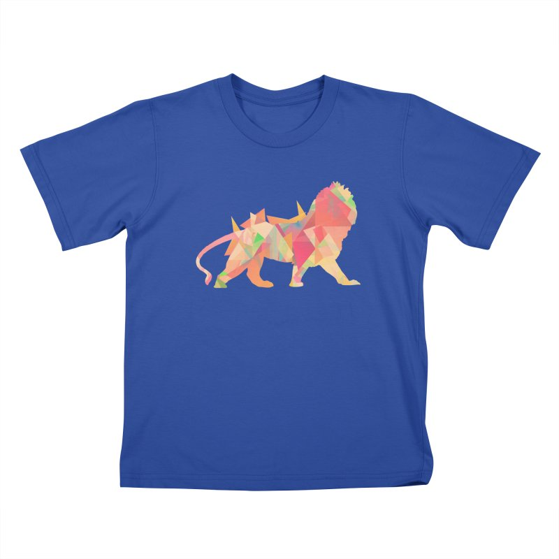 Poly Lion Kids T-shirt by Carli's Artist Shop