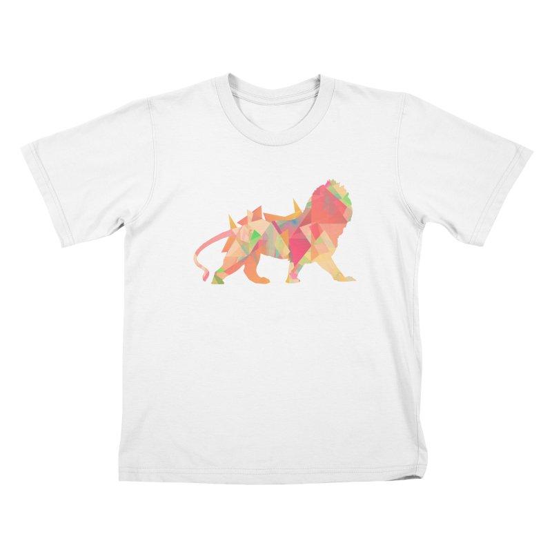 Poly Lion Kids T-shirt by Carli's Artist Shop