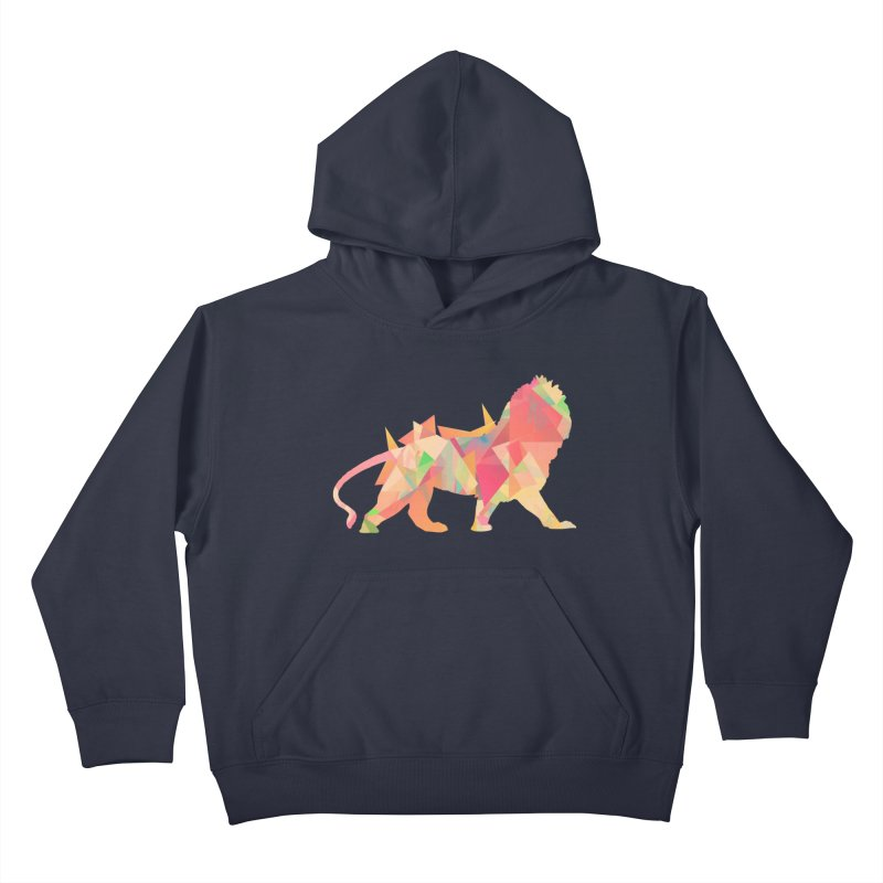 Poly Lion Kids Pullover Hoody by Carli's Artist Shop