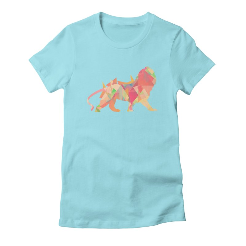 Poly Lion Women's Fitted T-Shirt by Carli's Artist Shop