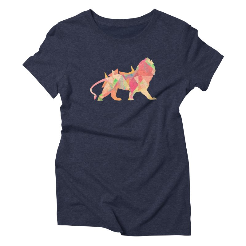 Poly Lion Women's Triblend T-Shirt by Carli's Artist Shop