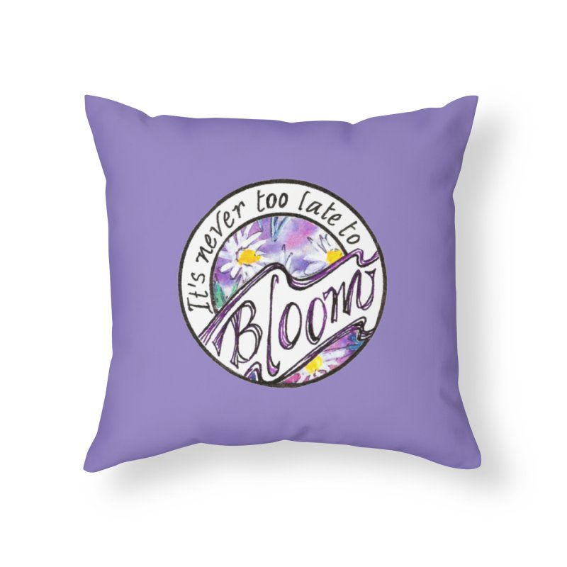 Bloom Home Throw Pillow by Carolyn Harley