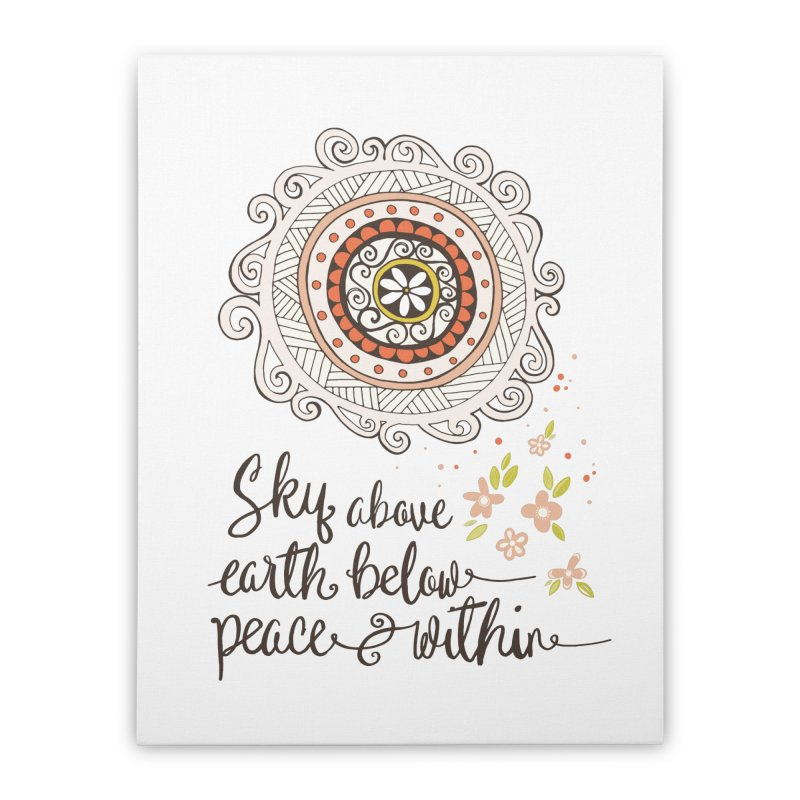 Sky Above, Earth Below, Peace Within. Home Stretched Canvas by Carrie Stephens Artist Shop