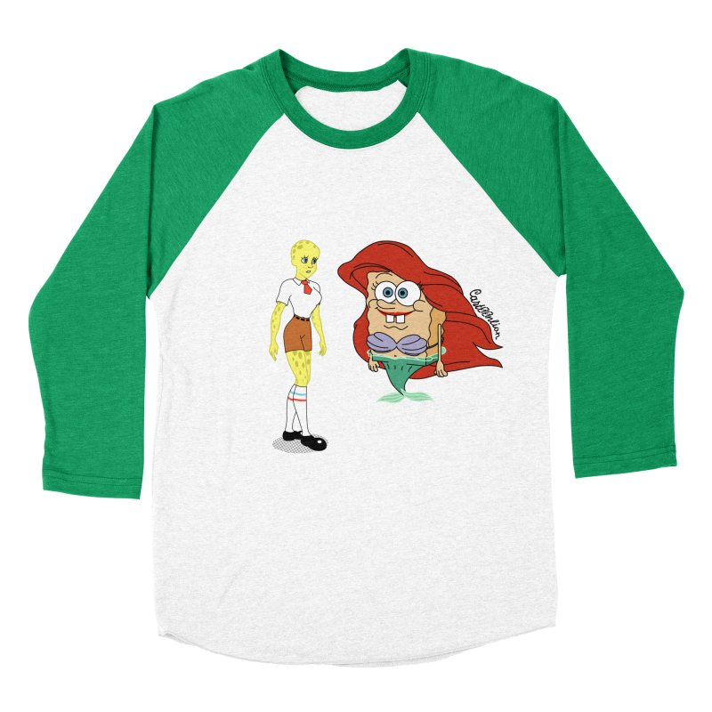 Little Merbob Maidpants Men's Baseball Triblend T-Shirt by Cart00nlion's Artist Shop