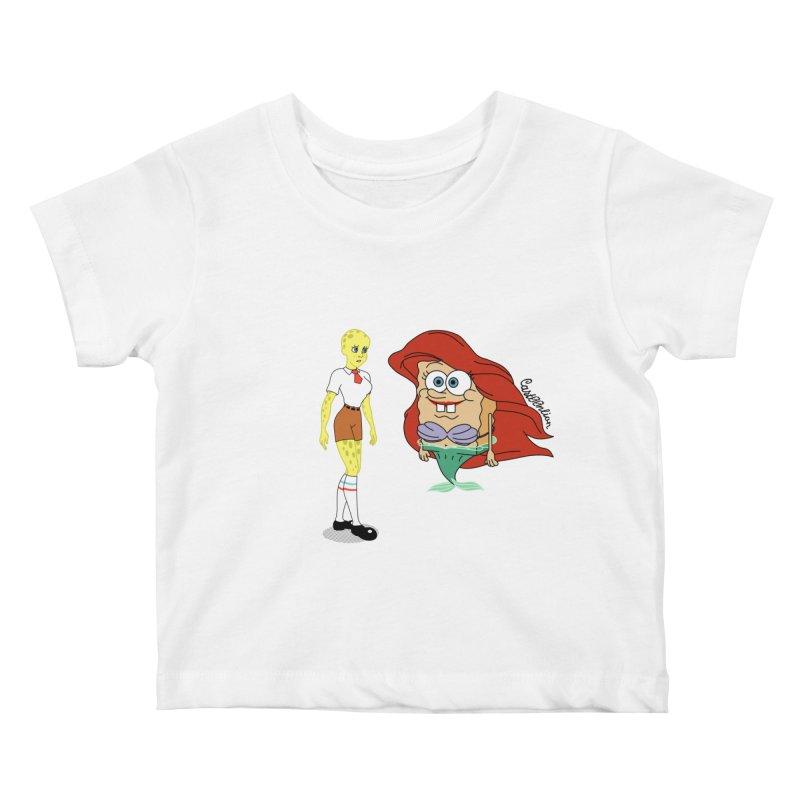Little Merbob Maidpants Kids Baby T-Shirt by Cart00nlion's Artist Shop