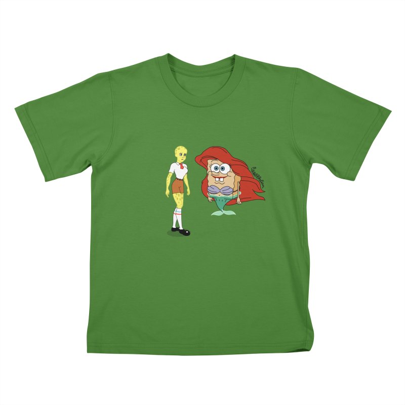 Little Merbob Maidpants Kids T-shirt by Cart00nlion's Artist Shop
