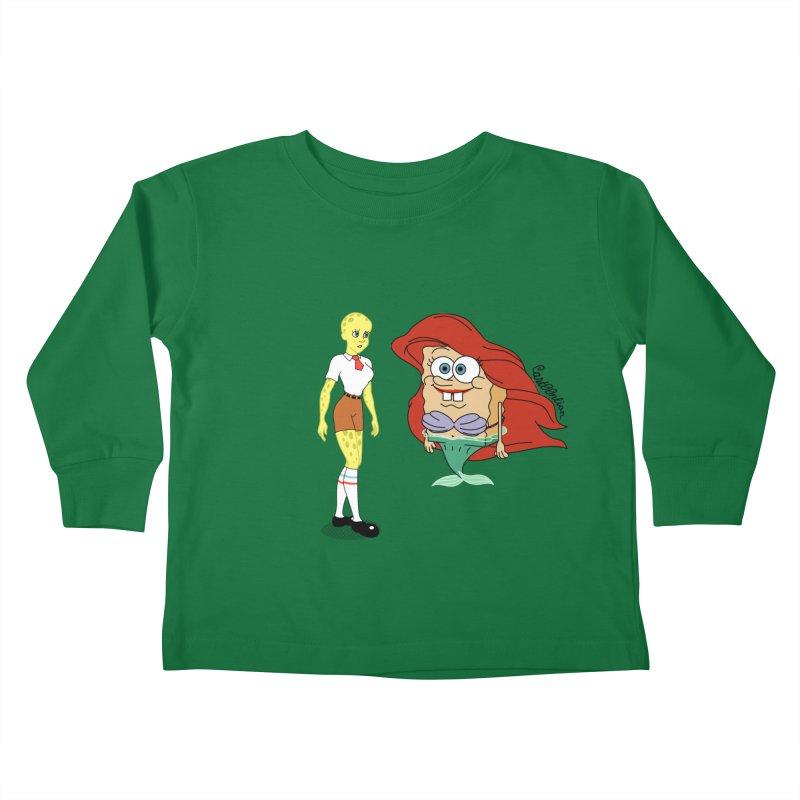 Little Merbob Maidpants Kids Toddler Longsleeve T-Shirt by Cart00nlion's Artist Shop