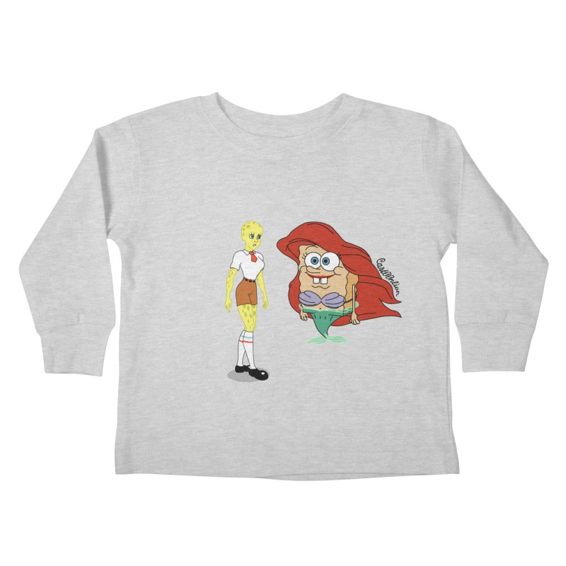 Little Merbob Maidpants Kids Toddler Longsleeve T-Shirt by Cart00nlion's Artist Shop
