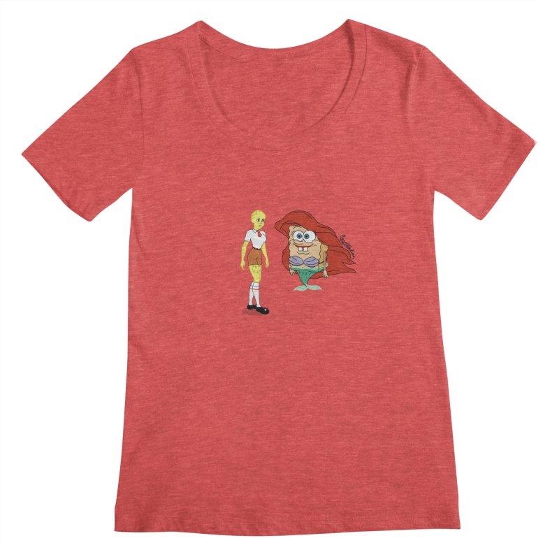 Little Merbob Maidpants Women's Scoopneck by Cart00nlion's Artist Shop