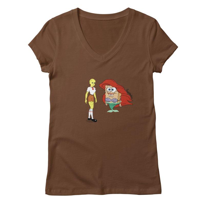 Little Merbob Maidpants Women's V-Neck by Cart00nlion's Artist Shop