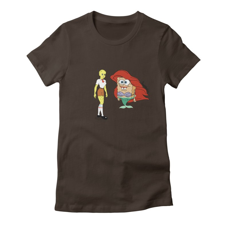 Little Merbob Maidpants Women's Fitted T-Shirt by Cart00nlion's Artist Shop
