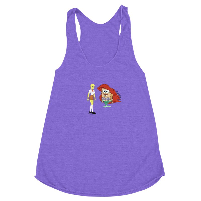 Little Merbob Maidpants Women's Racerback Triblend Tank by Cart00nlion's Artist Shop