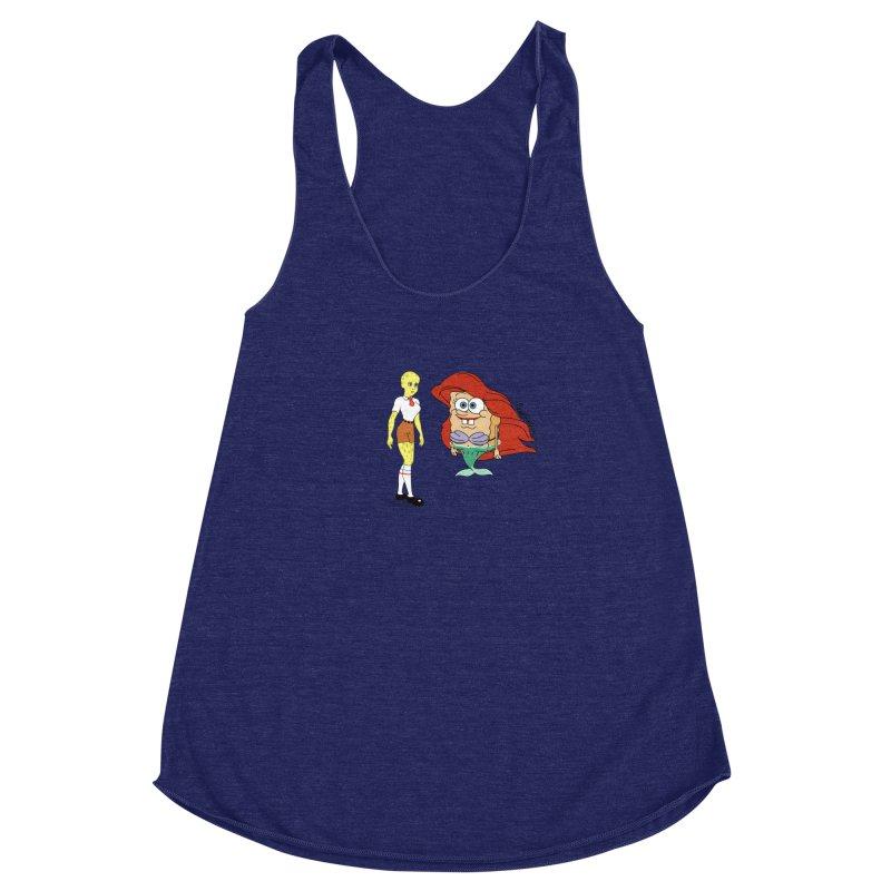 Little Merbob Maidpants Women's Racerback Triblend Tank by Cart00nlion's Artist Shop
