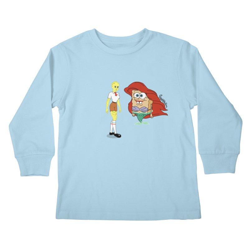 Little Merbob Maidpants Kids Longsleeve T-Shirt by Cart00nlion's Artist Shop