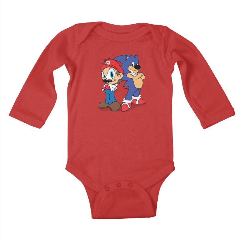 Maronic Kids Baby Longsleeve Bodysuit by Cart00nlion's Artist Shop