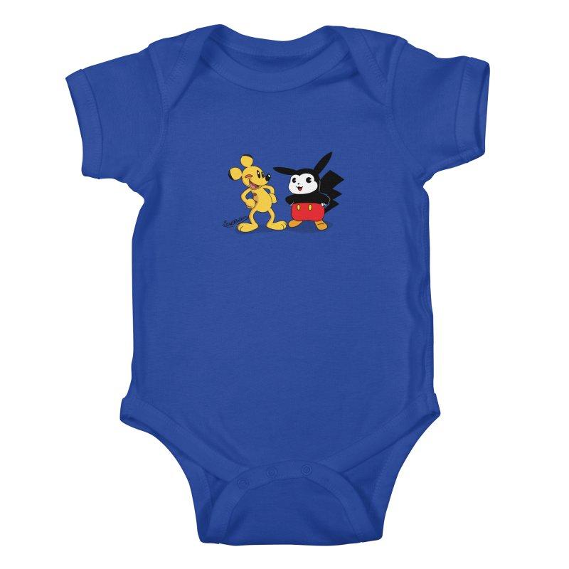 Mickachu Kids Baby Bodysuit by Cart00nlion's Artist Shop