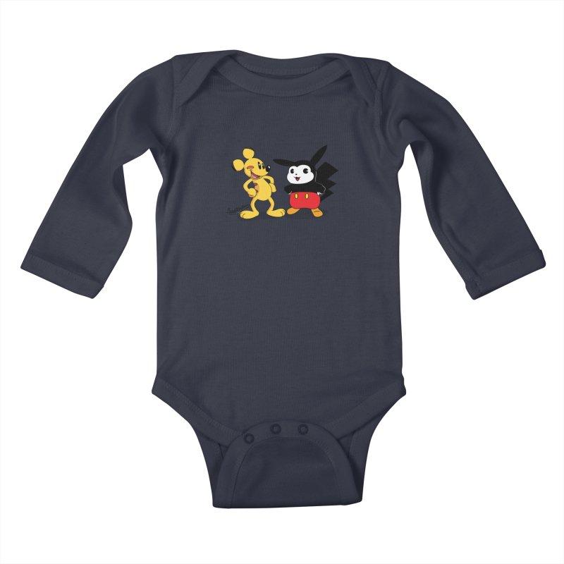 Mickachu Kids Baby Longsleeve Bodysuit by Cart00nlion's Artist Shop