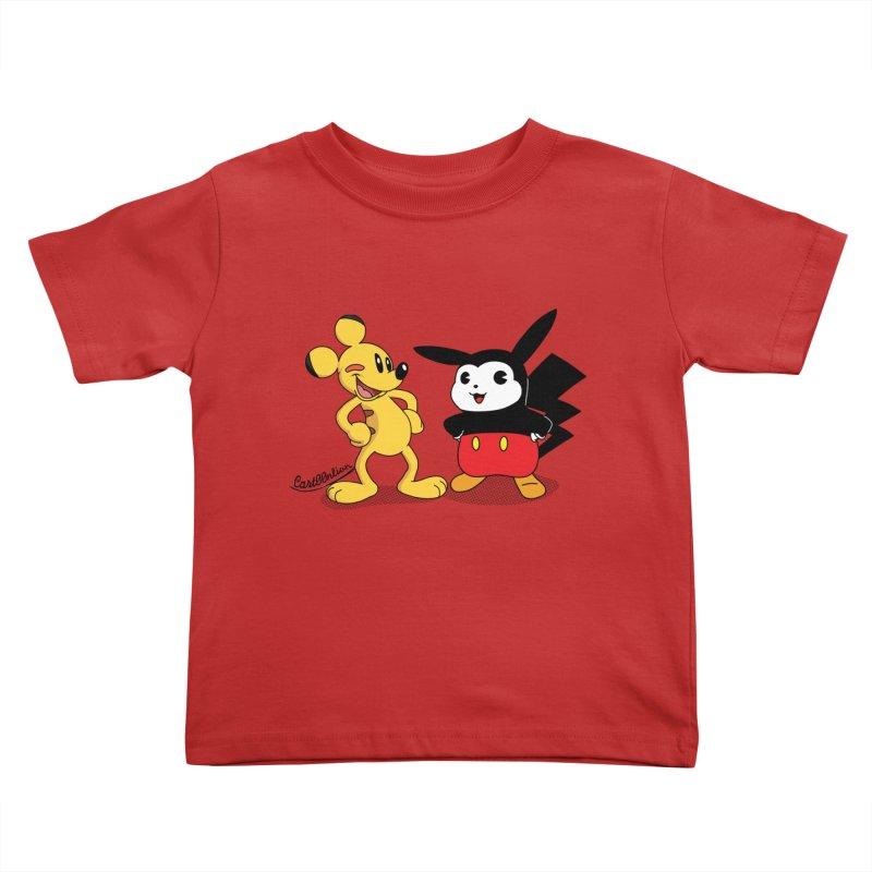 Mickachu Kids Toddler T-Shirt by Cart00nlion's Artist Shop