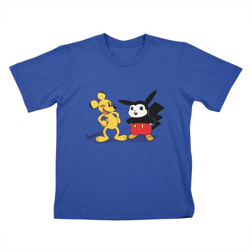 Mickachu Kids T-shirt by Cart00nlion's Artist Shop