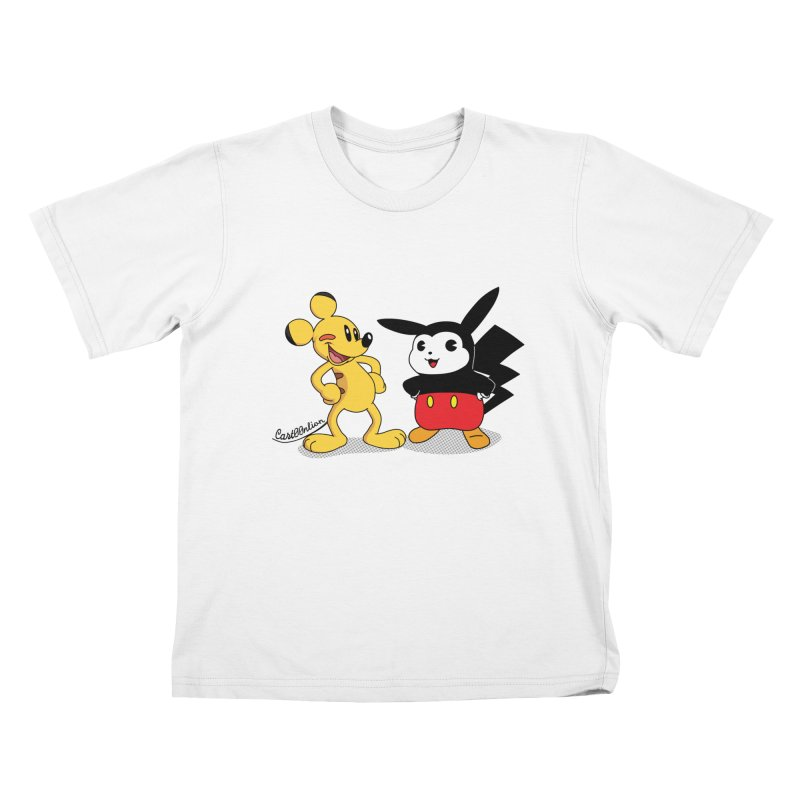 Mickachu Kids T-shirt by Cart00nlion's Artist Shop