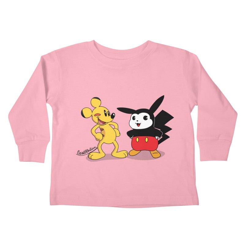 Mickachu Kids Toddler Longsleeve T-Shirt by Cart00nlion's Artist Shop